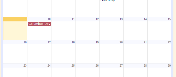 Google Calendar Embedded